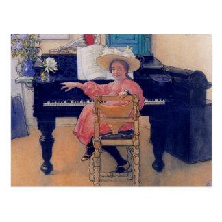 Cartão Postal Diva de brotamento do piano