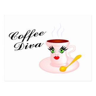 Cartão Postal Diva do café