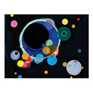 Cartão Postal Diversos círculos por Wassily Kandinsky