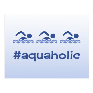 Hashtag blue swimmers fun aquaholic