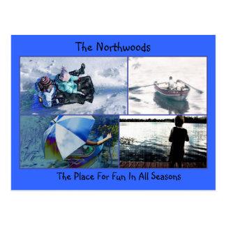 Cartão Postal Divertimento de Northwoods