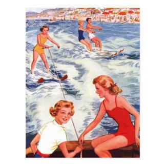 Cartão Postal Divertimento do esqui aquático do verão
