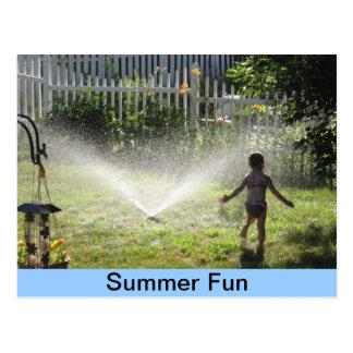 Cartão Postal Divertimento do verão