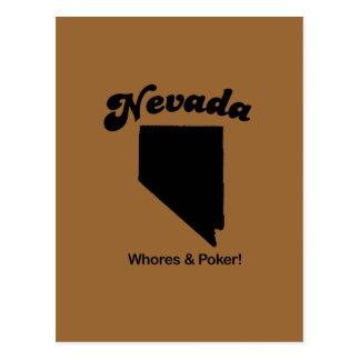 Cartão Postal Divisa de Nevada - meretrizes e póquer