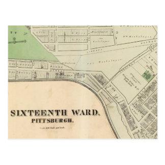 Cartão Postal Divisão 16 de Pittsburgh, Pennsyvania