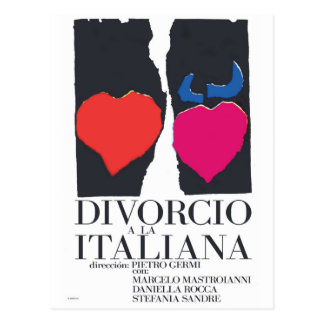 Cartão Postal Divorcio um la Italiana
