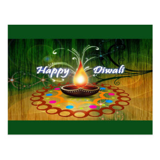 Cartão Postal Diwali feliz