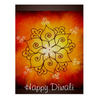 Cartão Postal Diwali Rangoli