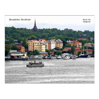 Cartão Postal Djurgården, Éstocolmo, Ola da foto…