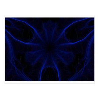 Cartão Postal DK. Laser azul