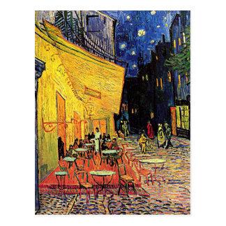 """Cartão Postal Do """"cartão do terraço café"""" de Vincent van Gogh"""