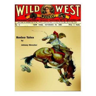 """Cartão Postal Do """"cartão ocidental do rodeio do vaqueiro do"""