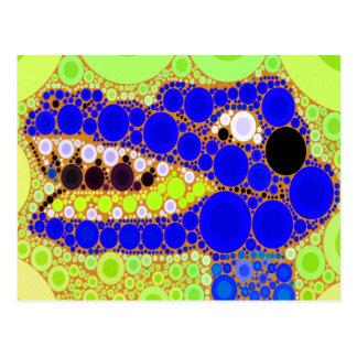 Cartão Postal Do crocodilo azul do jacaré do divertimento