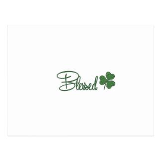 Cartão Postal ☘ do design do dia de St Patrick abençoado