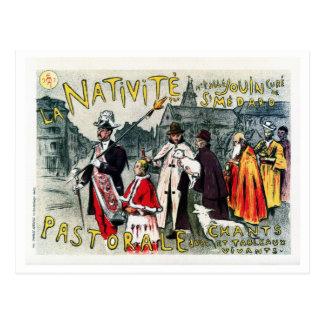 Cartão Postal Do époque francês do belle do vintage anúncio