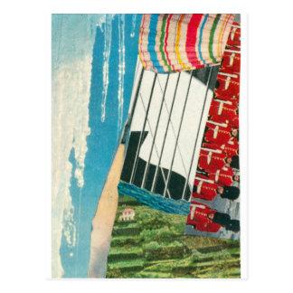 Cartão Postal Do fluxo do abstrato de Elizabeth Howard do