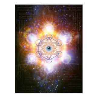 """Cartão Postal Do """"Mantra-Merkaba protetora DAA Guray Nameh"""" -"""