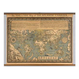 """Cartão Postal Do """"o mapa tempo & da maré"""" da carta patente"""