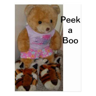 """Cartão Postal Do """"o urso verão no tigre calça"""" CricketDiane"""