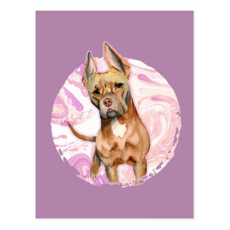 """Cartão Postal Do """"orelhas coelho"""" pintura da aguarela do cão de"""
