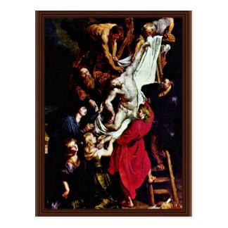 Cartão Postal Do painel central do Triptych transversal: Cruz