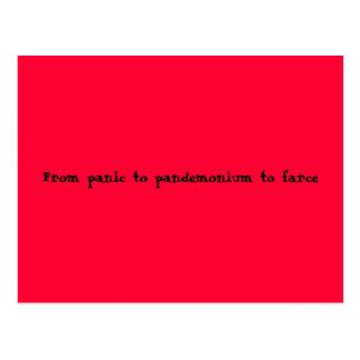 Cartão Postal Do pânico ao pandemónio à farsa