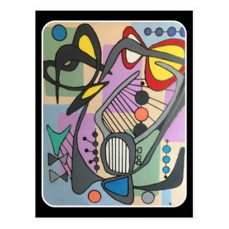 """Cartão Postal Do """"pintura da canção da aranha da modificação"""