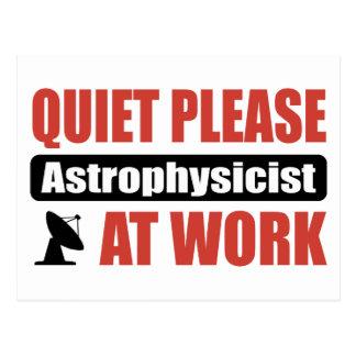 Cartão Postal Do silêncio Astrophysicist por favor no trabalho