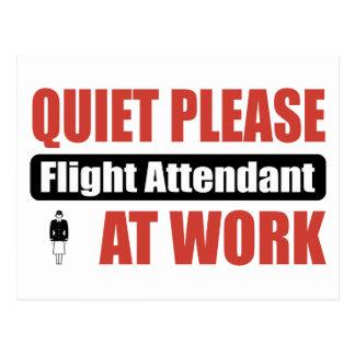 Cartão Postal Do silêncio hospedeiros de bordo por favor no
