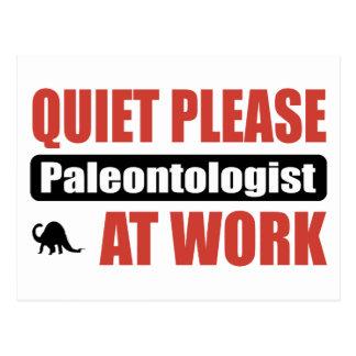 Cartão Postal Do silêncio Paleontologist por favor no trabalho
