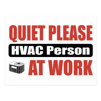 Cartão Postal Do silêncio pessoa da ATAC por favor no trabalho