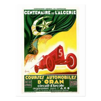 Cartão Postal Do vintage de Argélia carros 1930 de competência
