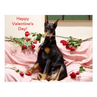 Cartão Postal Dober-Namorados felizes a você