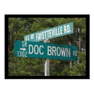 Cartão Postal Doc Brown Rd