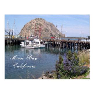 Cartão Postal Doca da pesca da baía de Morro, Califórnia