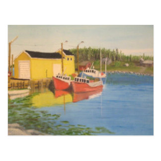 Cartão Postal Doca da pesca de Nova Escócia