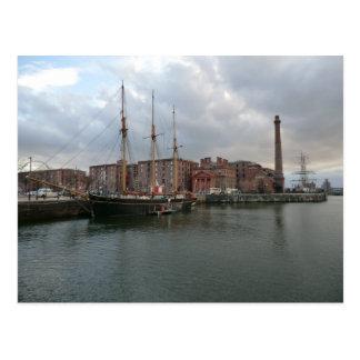 Cartão Postal Doca do Albert de Liverpool