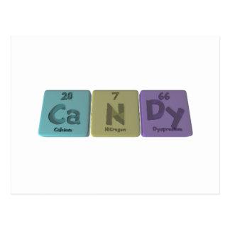 Cartão Postal Doces como o nitrogênio Dysprodium do cálcio