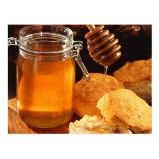 Cartão Postal Doces da comida do mel pegajosos