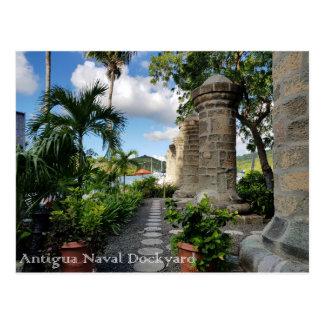 Cartão Postal Dockyard de Antígua - de Nelson
