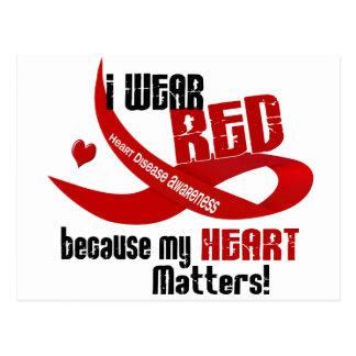 Cartão Postal Doença cardíaca eu visto o vermelho para MIM 33
