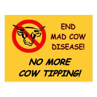 Cartão Postal Doença das vacas loucas da extremidade