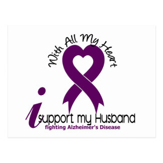 Cartão Postal Doença de Alzheimers eu apoio meu marido