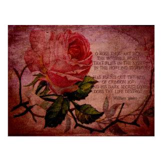 Cartão Postal Doente cor-de-rosa da arte de mil de O