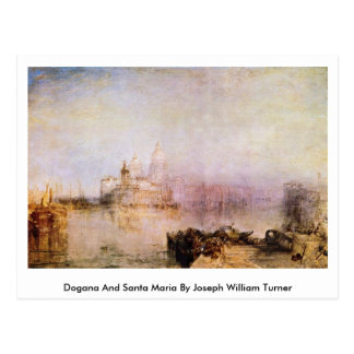 Cartão Postal Dogana e Santa Maria por Joseph William Turner