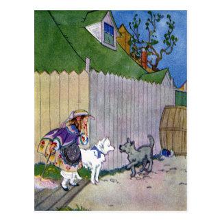 Cartão Postal Dois cães encontram-se no beco