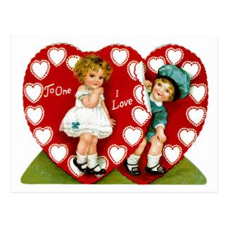 Cartão Postal Dois corações