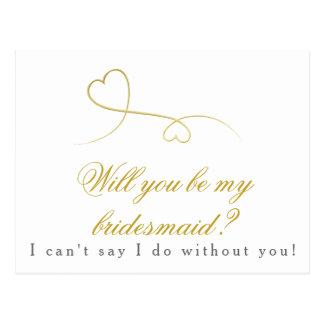 Cartão Postal Dois corações do ouro | sejam meu casamento da