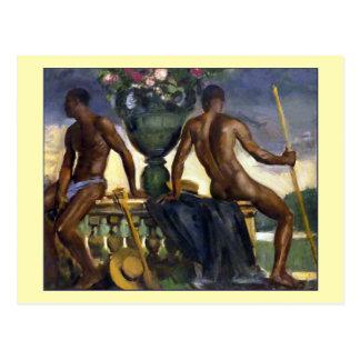 Cartão Postal Dois homens por Ranken