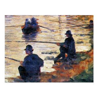 Cartão Postal Dois pescadores por Georges Seurat